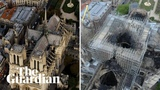 Notre Dame Cathedral before and after the devastating fire