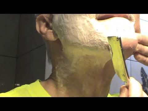Бритьё опасной бритвой Daishi 800 straight razor shaving