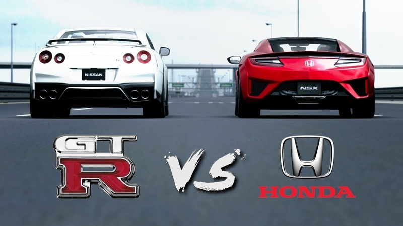 Nissan GT-R VS Honda NSX   Drag Race 1