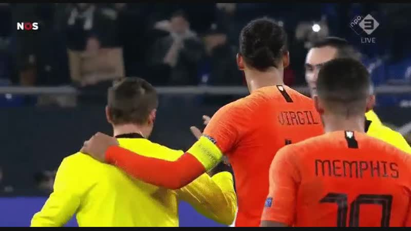Anfield HQ Virgil van Dijk on consoling referee Ovidiu Hategan after the game He broke down sto