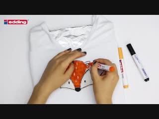 Мастер-класс Edding: рисуем на ткани