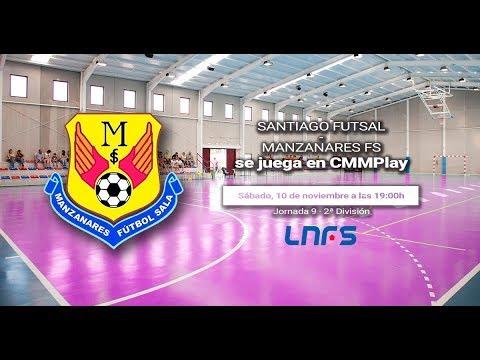 DIRECTO: 2ª Fútbol Sala: Santiago Futsal - Manzanares FS. Castilla-La Mancha Media.