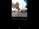 Грузовик загорелся в Октябрьском районе 16 07 18