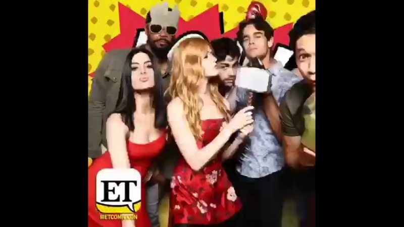 In honor of SDCC this weekend, TBT to the smashing time last year w the @shadowhunterstv fam! @comic_con @entertainmenttonight.m