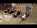 Anantasana with vrksasana final pose with Carrie Owerko Senior Intermediate Iyengar Yoga Teacher YouTube