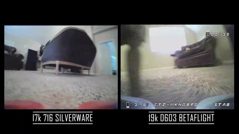 716 Silverware vs 0603 Betaflight