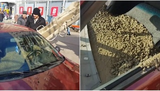 Furious Husband Fills His Wife's Car With Cement