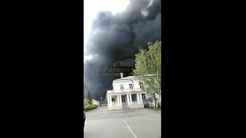 В Челябинской области горит завод