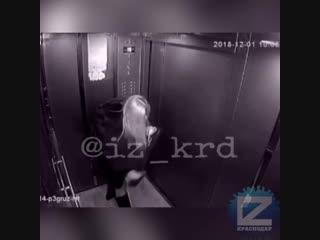 Подвыпившая девушка пописала в лифте и напугала соседа