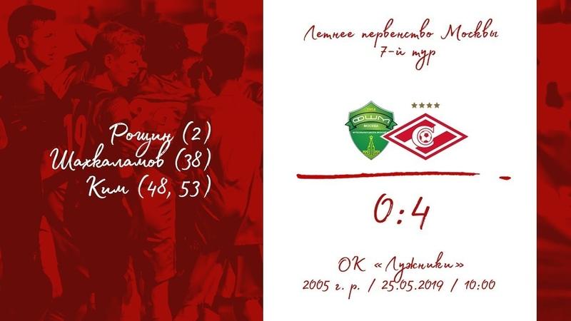 ФШМ - Спартак (2005 г. р.) 0:4