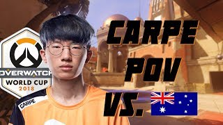 Carpe POV playing 4 heroes vs Australia Overwatch World Cup 2018
