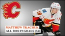 Matthew Tkachuk ( 19) All 34 Goals of the 2018-19 NHL Season