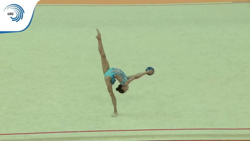 Arzu JALILOVA (AZE) - 2018 Rhythmic European bronze medallist, junior ball