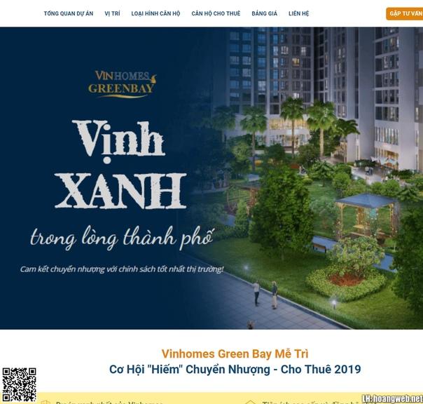 Landing page Bất động sản Vinhome thumbnail