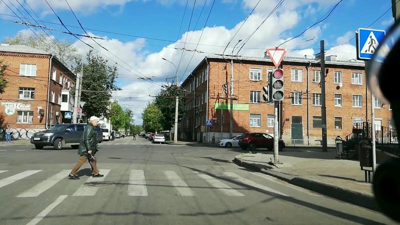 Разворот на перекрестке ул.Пушкина-Герцена видео 3