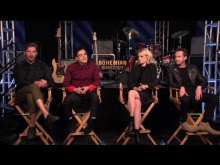 BOHEMIAN RHAPSODY Interview- Rami Malek, Gwilym Lee, Joseph Mazello and Lucy Boynton