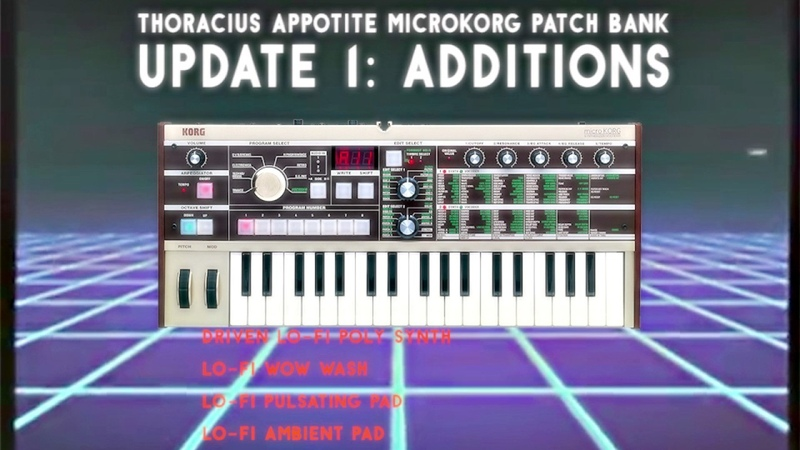 MicroKORG patch bank additions: Vintage, Retro, Lo-fi, 80s