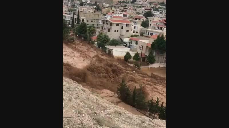 Наводнение в Дамаске Сирия