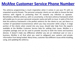 McAfee Tech Support Phone Number +1-888-316-4403
