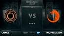 Chaos E.C. vs TNC Predator, Game 1, The Chongqing Major Group A