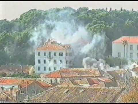 Serbian Attack On Dubrovnik December 1991 Hrvatska Kroatien Croatia Croatie