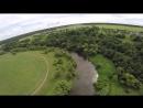 Река НАРА с высоты Чеховский район близ деревни Бегичево
