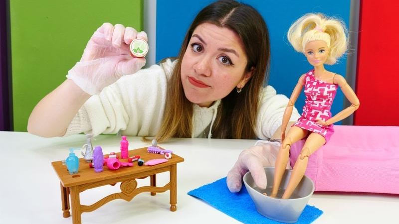 Barbie oyunu. Barbie tarihi geçmiş krem kullanıyor! Eğitici çocuk videoları