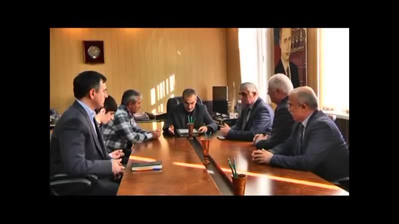 Встреча главы С.-Стальского района с чемпионом Евразии Эльмурадом Велихановым