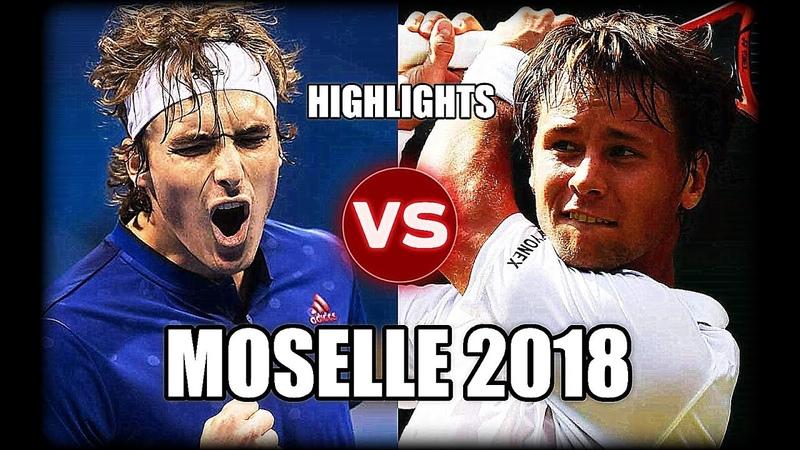 Ricardas Berankis vs Stefanos Tsitsipas MOSELLE 2018 Highlights