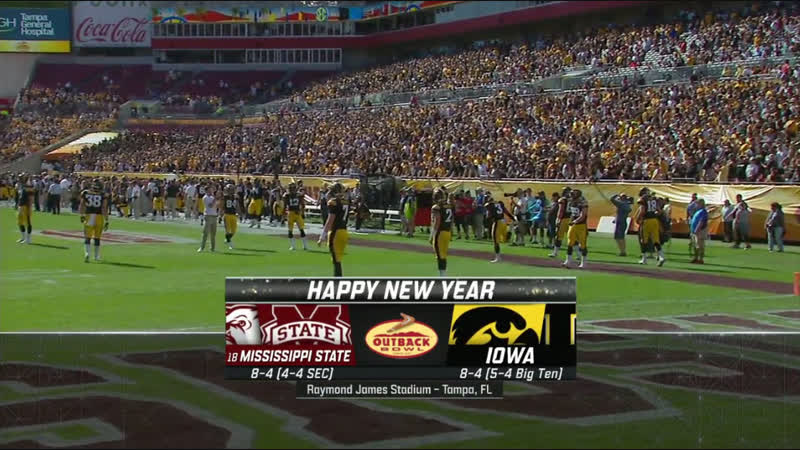 NCAAF 2018 / Outback Bowl / (18) Mississippi State Bulldogs - Iowa Hawkeyes / 2H / EN