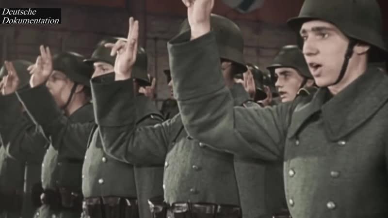 Конец немецкой земли съемки 1945 года в цвете оцифрованное