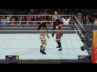 WWE SummerSlam 2010 Melina Vs Alicia Fox WWE2K18 SummerSlam WWE