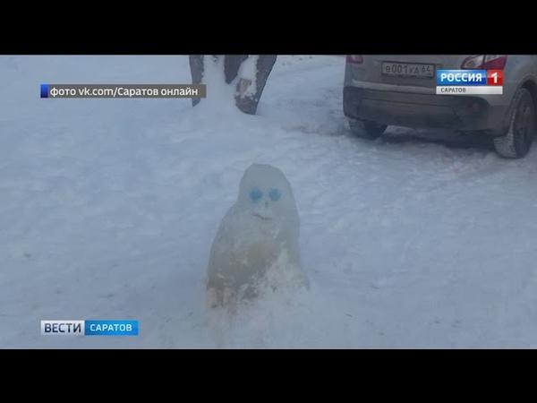 Опасные ледяные арт-объекты появились в Саратове