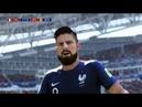 Футбольный прогноз по версии фифа 18 на матч: 1/2 Финала- Сб.Франции - Сб. Бельгии