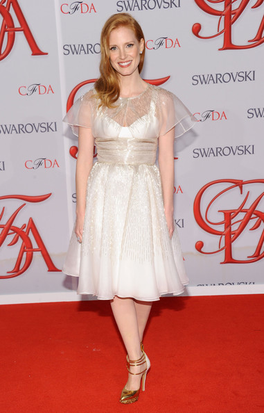 Джессика Честейн в белом