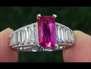 Certified UNHEATED Natural VVS Red Ruby Diamond PLATINUM Cocktail Ring - C750