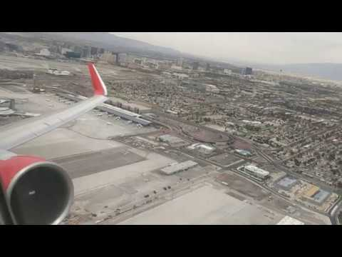 Rouge Boeing 767-300ER Push-back, Taxi and Takeoff from Las Vegas.