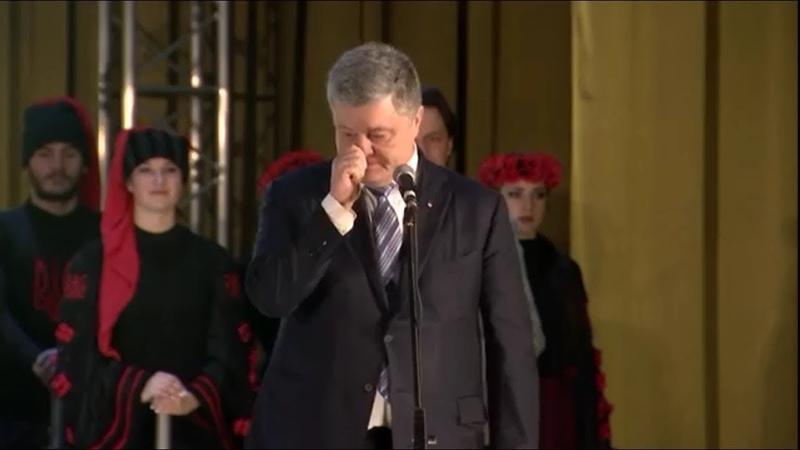 Порошенко прямо на сцене скушал козявку из носа