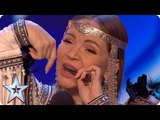 Will jaw harpist Olena be galloping through with her unique HORSE noises! Auditions BGT 2018