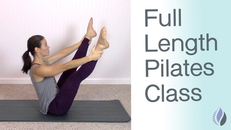Full Length Pilates Mat Class   Pilates Workout at Home with NO equipment   1 Hour Pilates Class