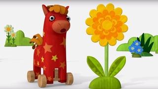 Деревяшки - Одуванчик - Серия 36 - развивающие мультики для малышей