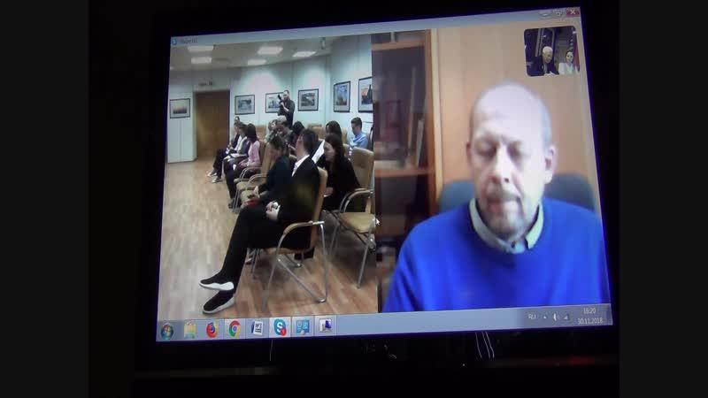 Видеоконференция Москва-Дудинка-Красноярск. Выступление Догадаева Владислава Иннокентьевича