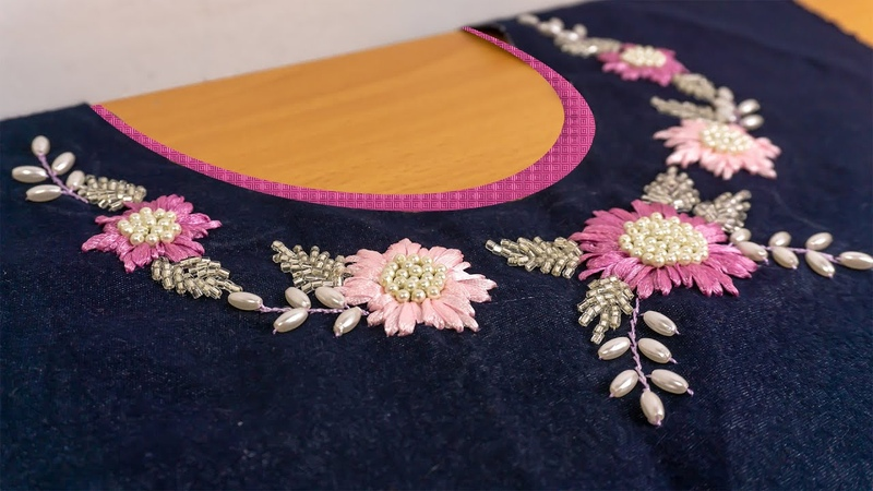 STYLISH Embroidery Neck Design Best Stitching Ideas for Dress