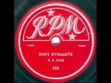 B. B. King - She's Dynamite - RPM 323 78 rpm spin Sun Records