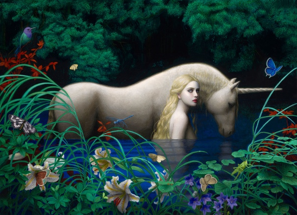 Chie Yoshii - (Dreams) (персональная выставка, Corey Helford Gallery, Oct. 20 - Nov. 24, 2018) 01 Another Face 02 White Stag 03 Emergence 04 Arachne 05 Reflection 06 Sacred Realm 07 Cocoon 08