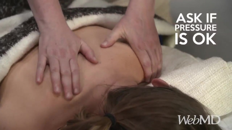 These relaxing massage techniques can release tension in the back, neck, and shoulders.