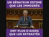 Jean-Louis Masson, sénateur, dénonce le fait que les migrants auraient plus d'aides que les retraités...