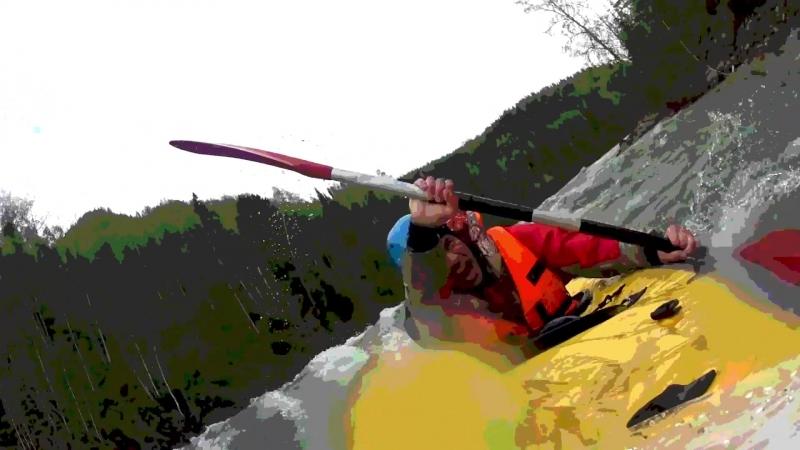 Прохождение весеннего Казыра (5 категория сложности) на байдарке Хатанга 1 спорт