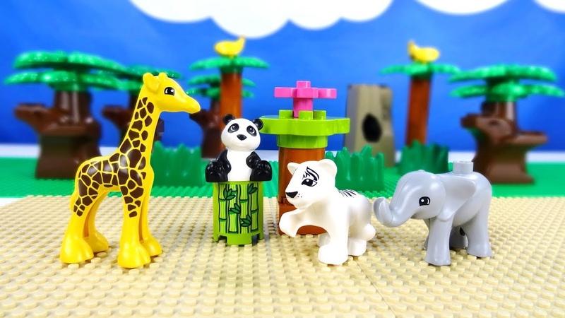 Lego Duplo 10904 Baby Animals - Лего Дупло 10904 Детишки животных. Строим из Lego Duplo. Lego movie