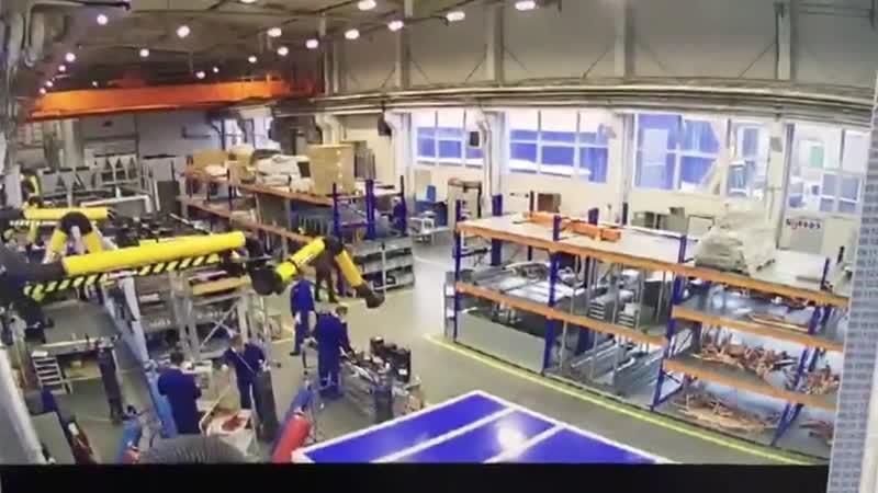 Обрушение потолка на заводе Техногрупп в подмосковном Дзержинском, 17.12.2018
